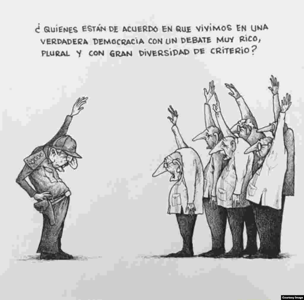 La obra de Omar Santana contiene una mirada crítica al régimen de La Habana