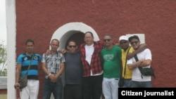 Reporta Cuba: Luis E. Guibert, Ermis Carbonell, Rolando Rodríguez, Andrés Aguilera, Anderlay Guerra, Yoanny Limonta y Bruno Díaz (i-d).
