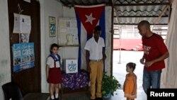 Centro de votación en La Habana, Cuba.
