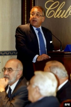 Víctor Moro Suárez, cuando presidía la Asociación de Empresarios Españoles en Cuba.
