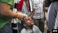 Enfrentamientos en El Cairo, Egipto.