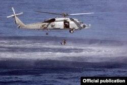 Ejercicio de rescate marítimo de la armada estadounidense