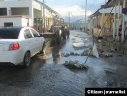 Reporta Cuba Calle Manuel Herrada foto Raul Glez