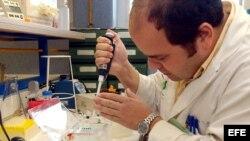 Archivo - Un investigador trabaja en el nuevo laboratorio de Terapia Celular y Medicina Regenerativa del hospital Virgen del Rocio en Sevilla.