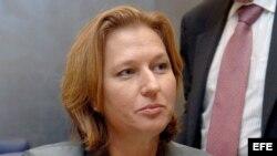 La ministra israelí de Justicia, Tzipi Livni. Archivo