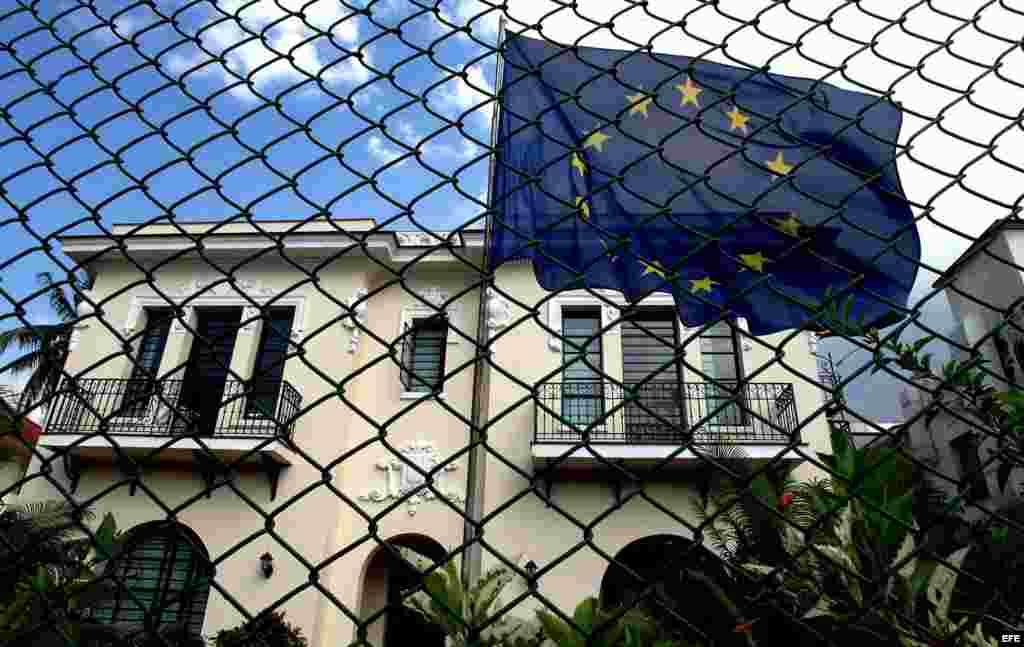 Sede de la Unión Europea en La Habana, ubicada en el barrio residencial de Miramar.