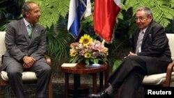 El presidente mexicano, Felipe Calderón, visitó Cuba el pasado 11 de abril.