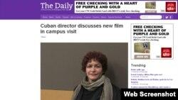 La directora de cine cubana Marilyn Solaya.