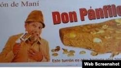 Publicidad de Turrón Pánfilo, un negocio privado.