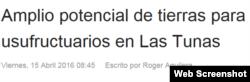 Titular del Periódico 26, de la provincia de Las Tunas