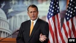 El presidente de la Cámara baja, John Boehner.