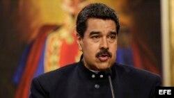 Nicolás Maduro habla durante una rueda de prensa con medios de comunicación internacionales. (Archivo)