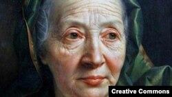 """Retrato de una anciana"", Christian Seybold (Neuenhain, Alemania,1695 - Viena,1768)"