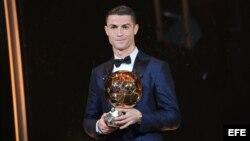 Cristiano Ronaldo, cinco veces ganador del Balón de Oro.