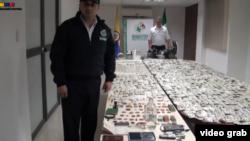 Imágenes del operativo que desmanteló fábrica de documentos falsos en Cali, Colombia.