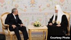 Reunión de Raúl Castro con el Patriarca ruso.