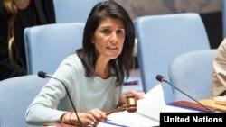 La embajadora de EEUU en la ONU Nikki Haley.