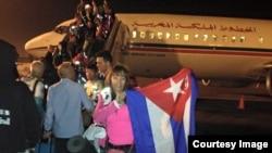 Iliana Hernández a su llegada a Marruecos.