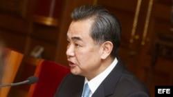 El ministro chino de Exteriores, Wang Yi.