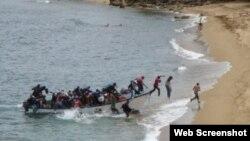 Grupo de cubanos en costas de Republica Dominicana