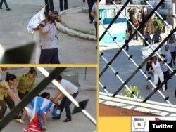 Fuerzas represivas suelen detener a Damas de Blanco frente a la sede del grupo en Lawton.