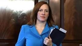 Jen Psaki, portavoz del Departamento Estado.