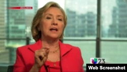 Hillary Clinton es entrevistada en exclusiva por el periodista Jorge Ramos de la cadena Univisión