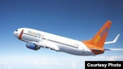 Avión de Sunwing Airlines