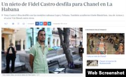 El modelo, Tony Castro, en el Paseo del Prado