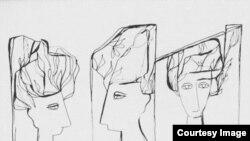 """Dibujos de Cundo Bermúdez para el cuaderno """"Mañas de la poesía"""""""
