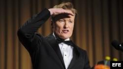 El presentador estadounidense de la televisión nocturna Conan O'Brien.