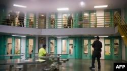 Un centro de Detención para inmigrantes en EEUU.