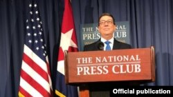 Bruno Rodríguez en The National Press Club.