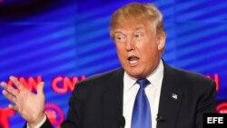 El precandidato presidencial por el partido republicano Donald Trump.