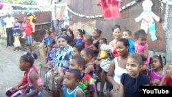 Reporta Cuba UNPACU celebra con niños de un barrio en Palma Soriano