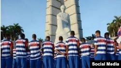 Otra imagen impactante de nuevo uniforme de atletas cubanos que irán a Juegos Olímpicos de Río.
