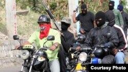 Tupamaros desfilando el 23 de enero (El Nacional)