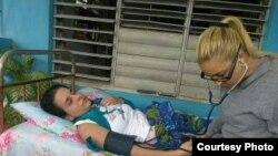 Arianna López huelga de hambre Placetas 17 de enero/Facebook Alexeis Mora