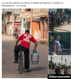 Reporta Cuba. Colas. Foto: Facebook Leandro Pérez.