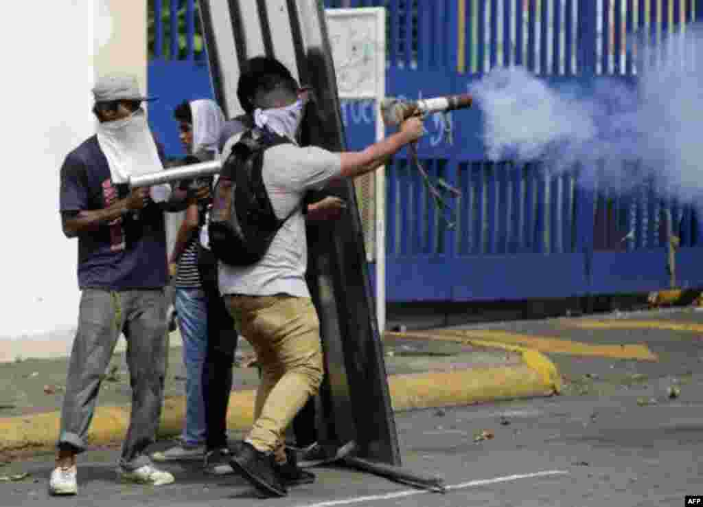 Manifestantes contra Daniel Ortega en Nicaragua.