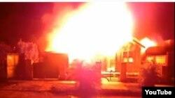 Imagen del fuego ocurrido en un barrio habanero