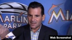 El presidente de los Miami Marlins, David Samson.