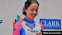 La ciclista cubana Marlies Mejías García.
