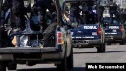 Patrullas armadas de la Policía Federal de México.