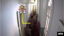 Imagen del video difundido por el gobierno paraguayo en el que se identifica a los militares que asistieron a la reunión.