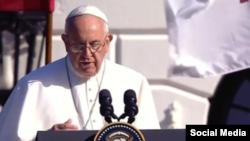 Papa Francisco en la Casa Blanca.