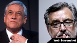 (i-e) Sebastián Piñera y Alejandro Guillier. Foto: Noticias, Terra.Cl