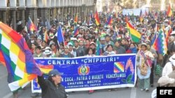 Los indígenas y los médicos se unieron para protestar contra Evo Morales