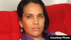 La periodista cubana independiente Luz Escobar.