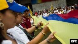 Movilización de la oposición en Venezuela.